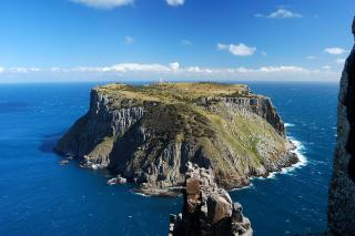 Tasman Island off the tip of Cape Pillar. In fact that knob of rock in the foreground is the actual tip!