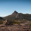 Mt Eros in the distance. Cradle Mountain-Lake St Clair National Park.