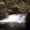 Waterfall in The Never Never. There is no real track but it's a lovely and easy way get from Cradle Mountain-Lake St Clair to The Walls of Jerusalem National Park.